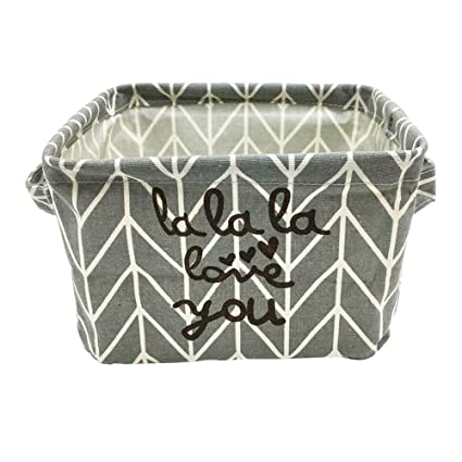 Foldable Fabric Storage Organizer for Shelves /& Desks Small Storage Basket