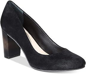 Alfani Womens Morgaan Leather Closed Toe Classic Pumps, Black, Size 6.0