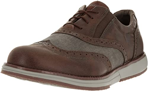 Hybrid Brown Ankle-High Oxford Shoe