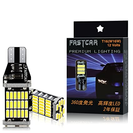 Fastcar Car T10 T16 W16W T15 921 LED Bulb White For Back Up Lights Reverse  Lights wedge No polarity 1000 lumens DC12V DC24V 6000K CANBUS error free