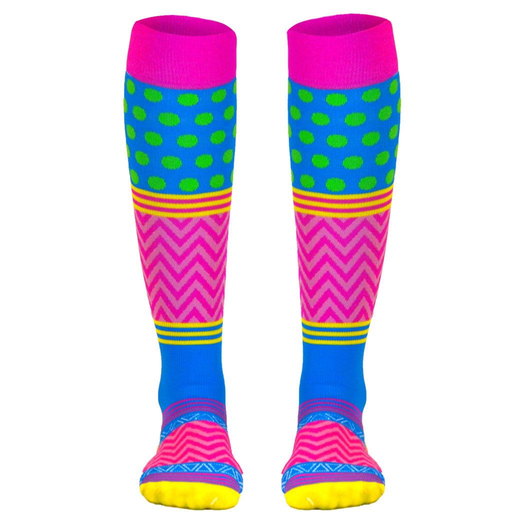 Crazy for Color Compression Socks   Athletic Knee Socks by Gone For a Run   Small