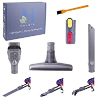 Dyson V8 V7 Household Vacumm Parts ,Hongfa Replacements for Dyson Attachments V8,V8 Absolute,V6, V7, DC58,DC59 with 4 pcs Brush Accessories And 1pcs Free Cleaning Brush