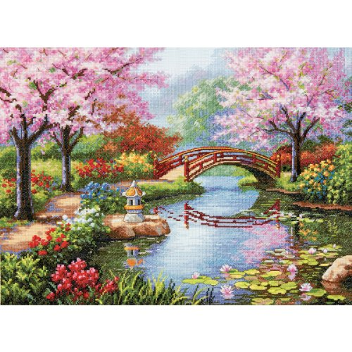 Collection Cross Stitch (Dimensions Gold Collection Japanese Garden Counted Cross Stitch Kit, 16