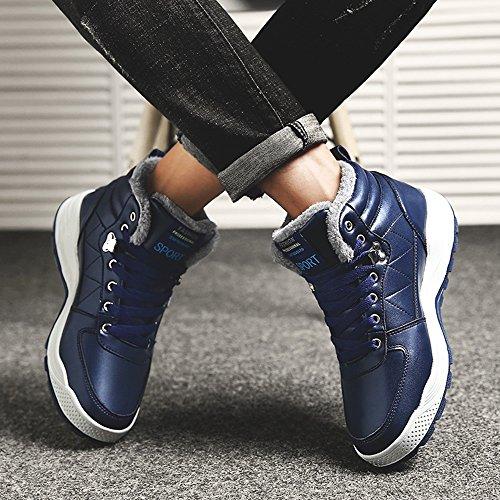 Winter Blu 3 EU39 Scarpe al Boots FEIFEI Blu Tenere caldo uomo sportive Le Leisure UK6 dimensioni colori da CN39 calzature Colore Martin U1wFqqSY