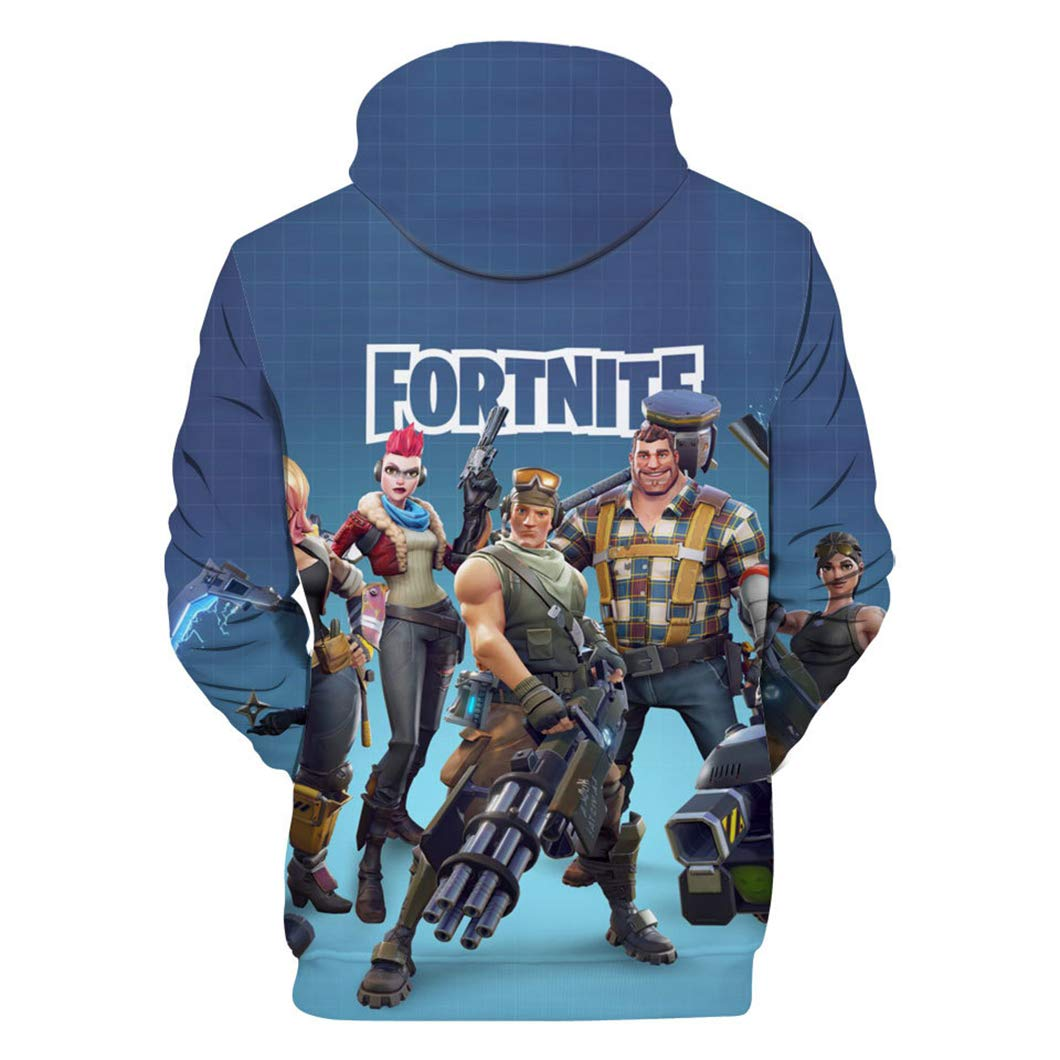 9e53b3bdd84 OPENDIY Fortnite Childrens Long Sleeve Pullover Hoodie Kids Boys Girls  Hooded Sweatshirt 2-8Y