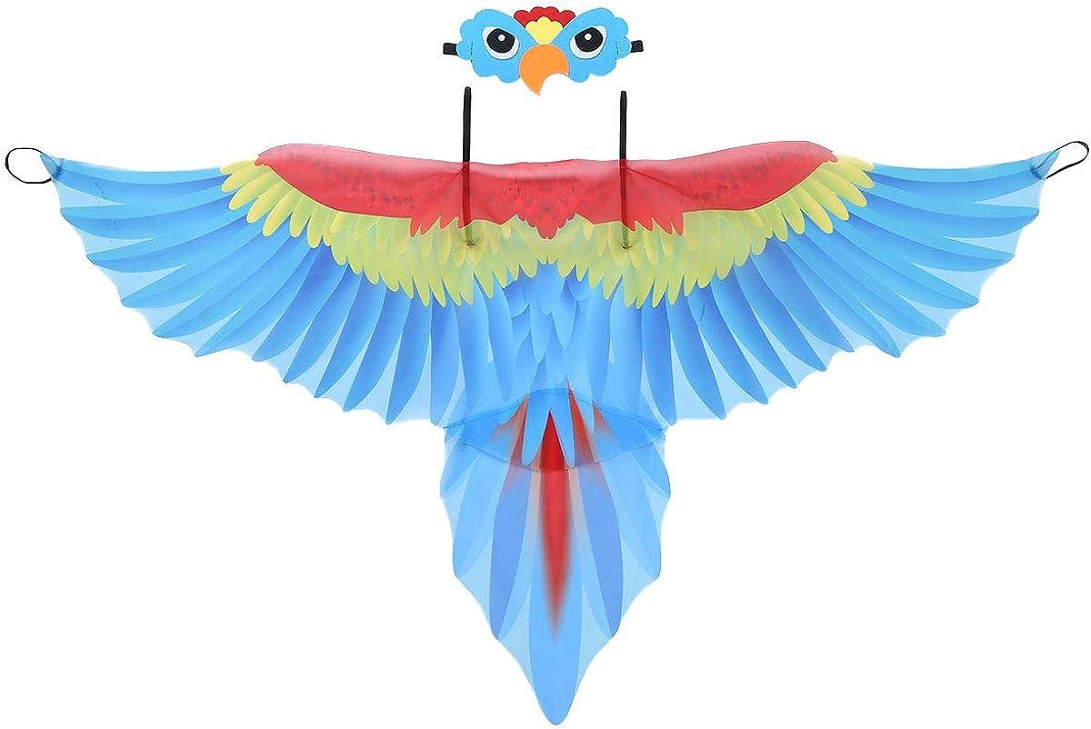 iiniim Disfraz Lorito para Niño Niña Ala de Pájaro Tela Ligera con Máscara de Pajaros Disfraces Loro de Halloween Fiesta Carnaval 3-10 Años