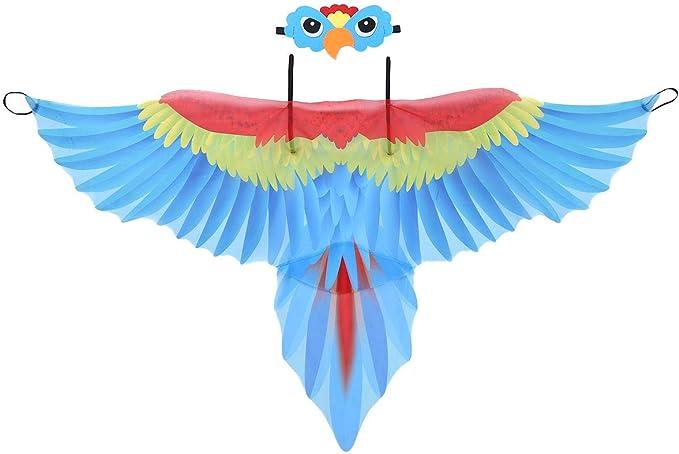 iixpin Disfraz de Papagayo para niña, con alas de pájaro, con ...