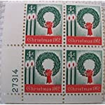 1962-US-4-cent-Christmas-Wreath-Plate-Block