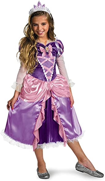 Amazon Com Tangled Princess Rapunzel Shimmer Deluxe Costume Clothing