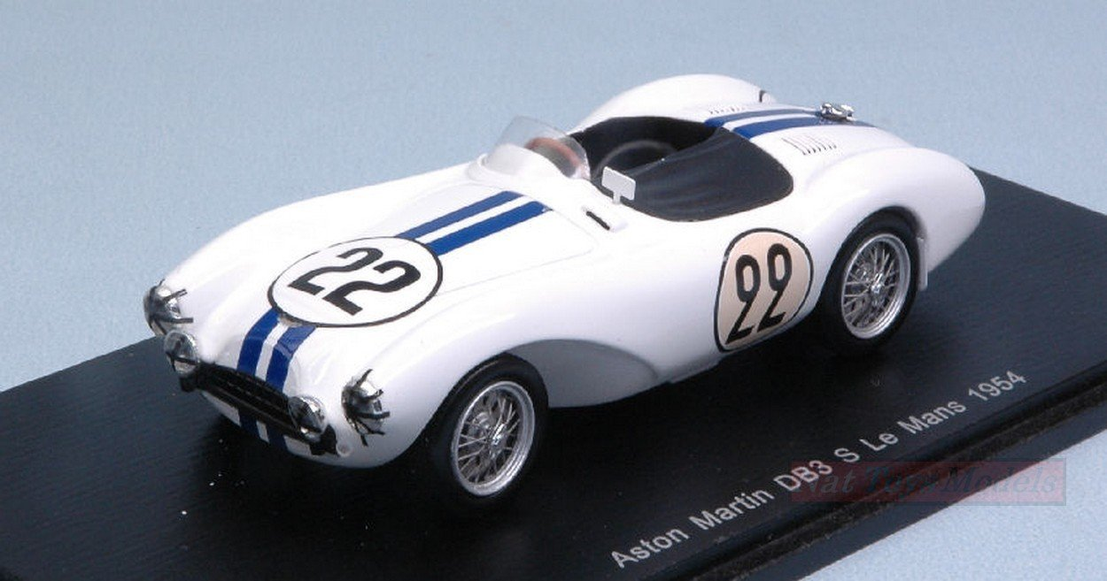 Spark Model S2437 Aston Martin DB3 S N.22 DNF LM 1954 C.Shelby-P.FRERE 1:43