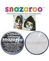 2 Grande 18ml Snazaroo Pittura Viso Compact Colori: 1 nere e 1 BIANCO [Giocattolo]