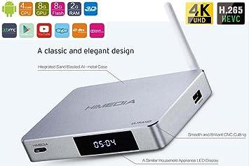 SUNKINFON High-end HiMedia Q5 PRO Quad Core Smart Android 5 1 TV Box