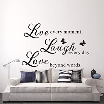 Amazon.com: Live Love Laugh - Wall Decals Art Mural Quote ...
