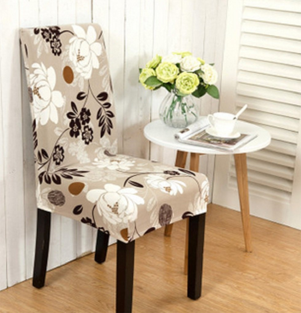 Soft Stretch Dining Room Wedding Banquet Chair Seat Covers Party Decor (A) Cathery AX-FQ17336