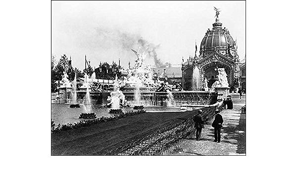Paris 1889 8x10 Silver Halide Photo Print Eiffel Tower /& Fountain Coutan