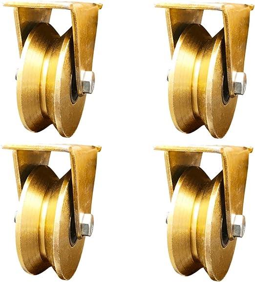 GONGFF Rueda Paquete de 4 2 Pulgadas Tipo V polea Pista rodamiento ...