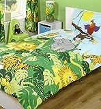 Parure de lit pour enfant motif Jungle Safari avec zèbres, singes et girafes