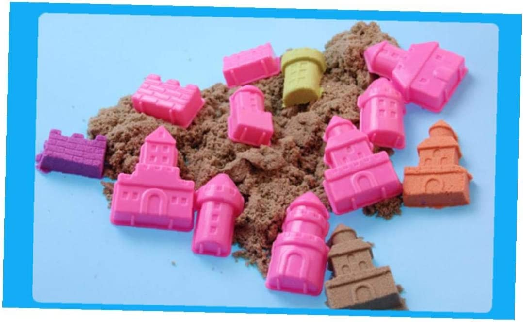 Strand-Spielzeug Spielen Craft Sand mit 6pcs Kleiner Schloss Moulds Spielzeug Sand-Spielzeug-Strand-Spa/ß Sinnes Spielzeug Outdoor-p/ädagogisches Spielzeug