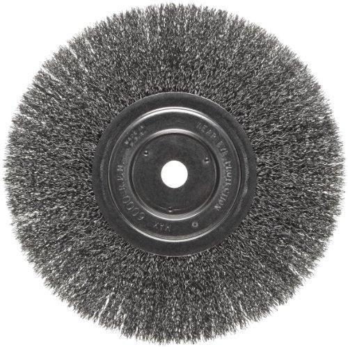 - Weiler Vortec Pro Narrow Face Wire Wheel Brush, Round Hole, Carbon Steel, Crimped Wire, 8