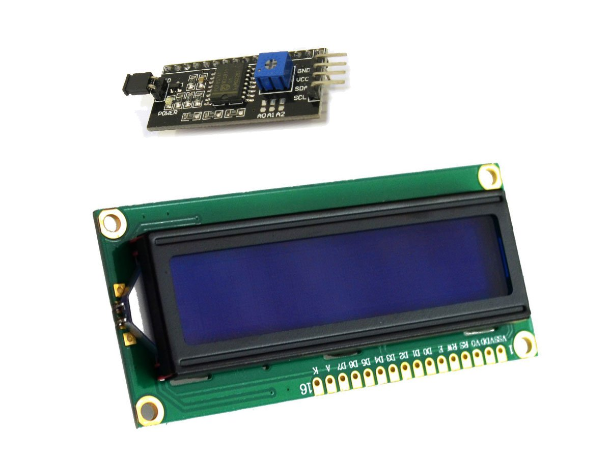 RoboJax LCD1602 LCD Screen 16x2 Character 5V with I2C Serial Interface Module LCD1602-I2C