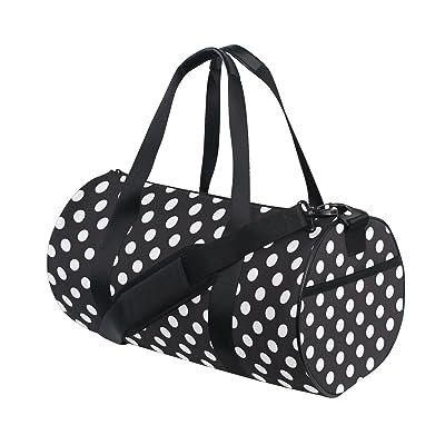 4c5df5bc0d Naanle Blue And White Polka Dot Gym bag Sports Travel Duffle Bags for Men  Women Boys