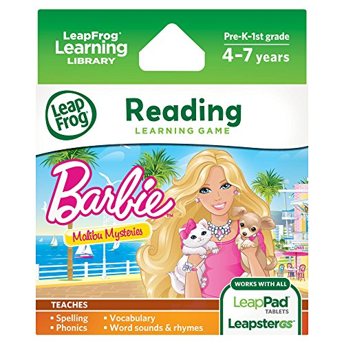 LeapFrog Learning Game: Barbie Malibu Mysteries (for LeapPad Tablets and LeapsterGS) (Leapfrog Learning Friends Preschool Adventures Learning Game)