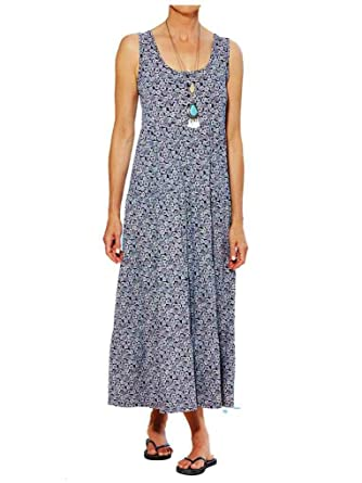 details for new varieties release date Marisota Navy & White Gypsy Cotton Maxi Summer Tunic Dress Size 16 to Plus  32