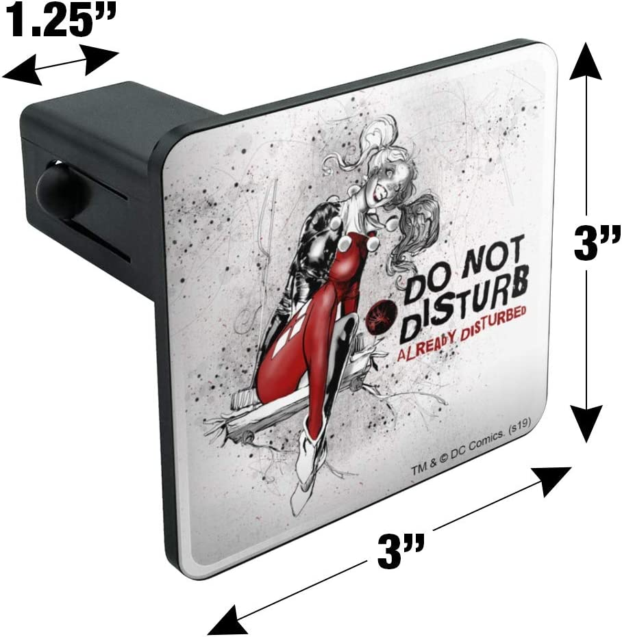 Graphics and More Harley Quinn Already Disturbed Tow Trailer Hitch Cover Plug Insert