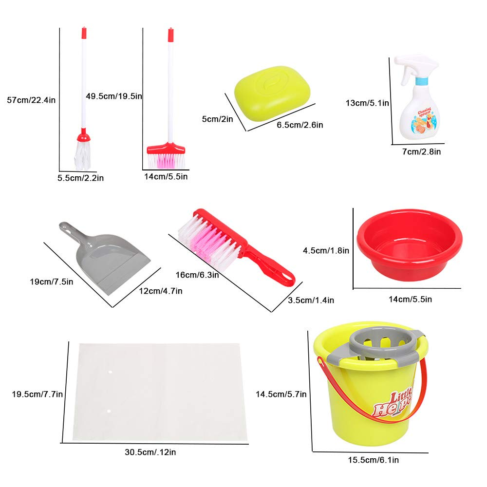 ASfairy Childrens Cleaning Set- Broom, Mini Sweeper, Toy Cleaning Supplies That Work! by ASfairy-Toy (Image #6)