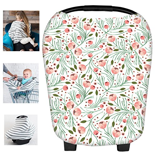 Multi-Use Floral Milk Yarn Nursing Breastfeeding Cover Baby Car Set Cover Canopy Shopping Cart Cover Swaddle Blanket for Infants Newborns Toddlers Shower Gift - Camouflage Infant Car Seat Covers
