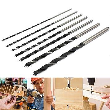 BALLSHOP Schlangenbohrer 7-tlg Holzbohrer Set Schneckenbohrer Balkenbohrer Durchmesser von 4 5 6 7 8 10 12 mm