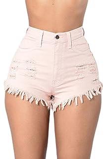 Pantalones Cortos Vaqueros Mujer Verano Tejanos Shorts Vaqueros Casual  Denim Jeans Rotos Short Dama Slim Fit 8cad8ebdcd04