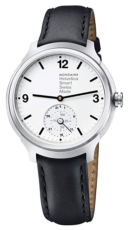 Amazon.com: Mondaine Helvetica No1 Bold Stainless Steel Mens ...