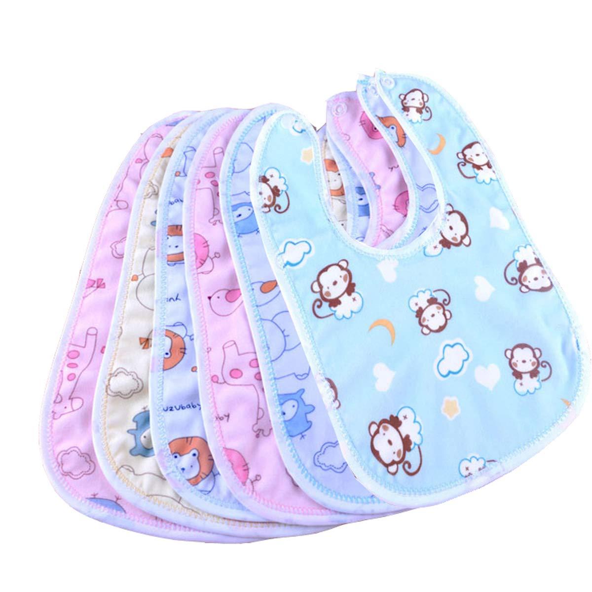 Blue//Pink//Red//White Baby Bib Soft Cotton No