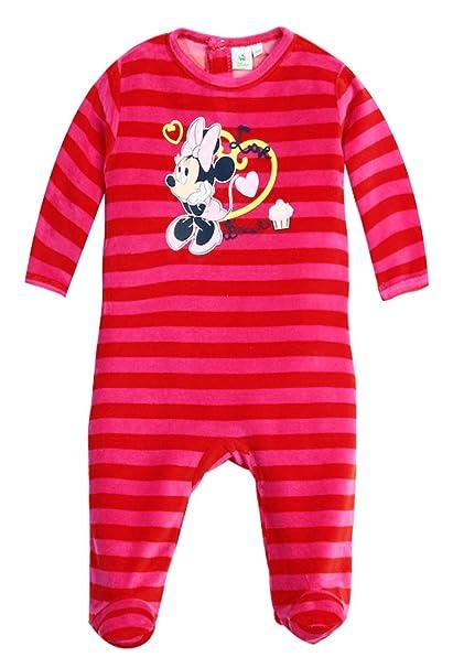 54526ca3fee91 Pyjama rayé bébé fille Minnie Disney baby Rose de 3 à 23mois (18 mois