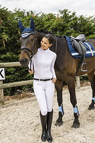 EKKIA(エキア) 乗馬用具 ホワイト E-TH.MESH LS POLO K.WHITE 12 987020112 987020112
