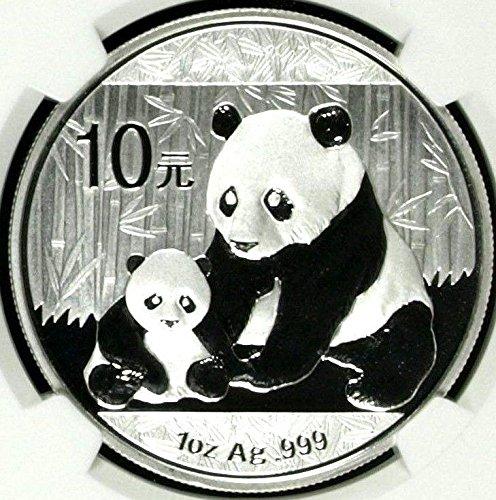 2012 CN 2012 China 1 oz Silver Coin 10 Yuan Panda and Cub coin MS 67 NGC