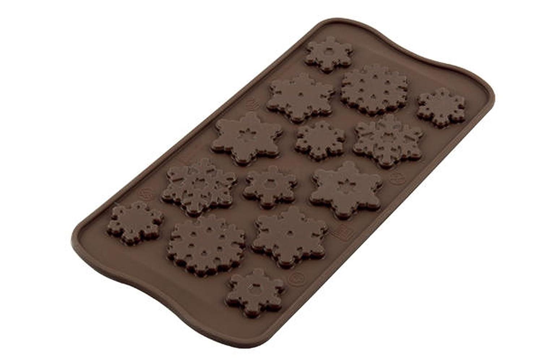 Silikomart Silicone Easy Chocolate Mold, Snowflakes