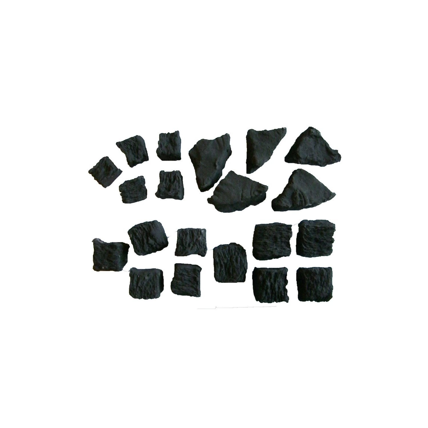 Gas Fire Replacement Coals 5 Small 5 Medium 5 Large 5 Triangle IN BRANDED COALS 4 YOU PACKAGING