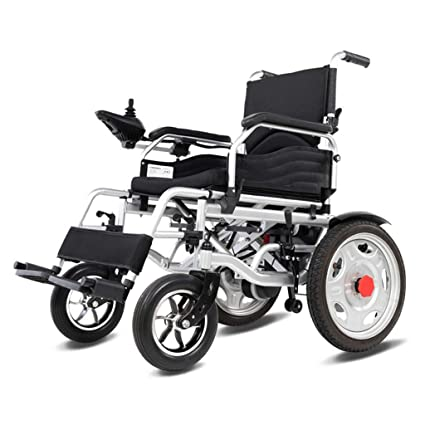 JL-Q Sillas de Ruedas eléctricas Plegables de Peso Ligero de Ancianos discapacitados Inteligente automático