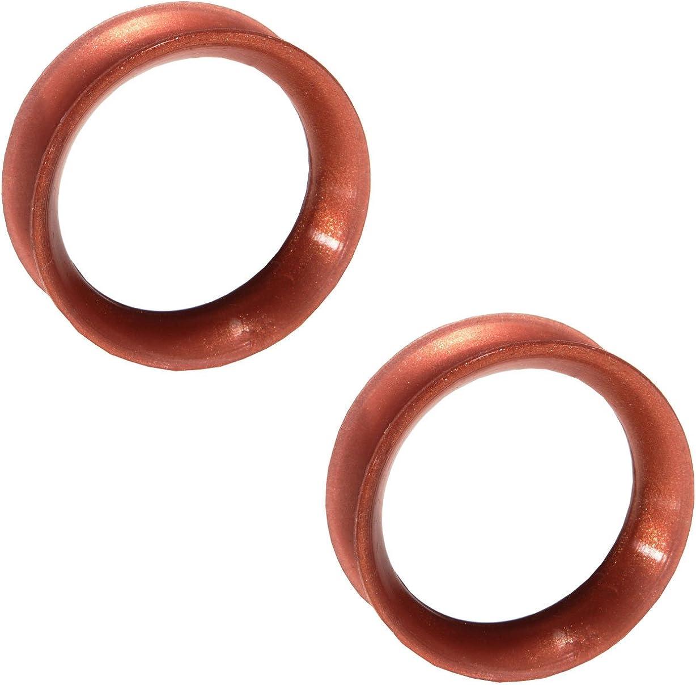 Kaos Pair of Metallic Copper Silicone Double Flared Skin Eyelets