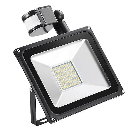 Yuanline 30W LED Proyector,el Detector de Sensor Movimiento Impermeable IP65 de Llevó la Lámpara