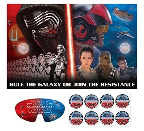 Amscan Star Wars Episode Vll Party Game Board, Multicolor
