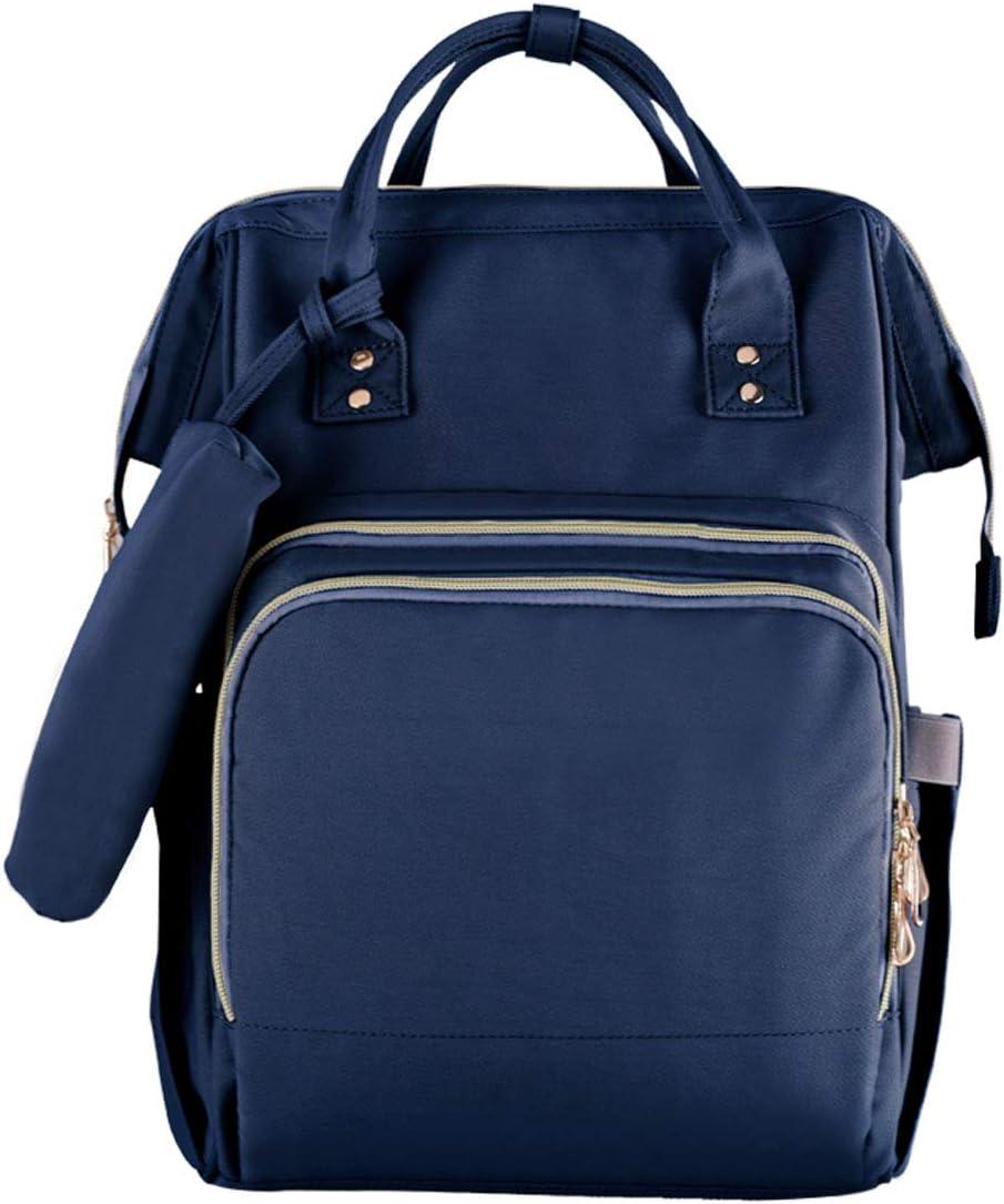 Mochila de Pañales, Wellwerks Bolso Impermeable para Pañales & Biberones de Gran Capacidad, Mommy Backpack Multifuncional para viaje Para Cuidado de Bebé (Azul)