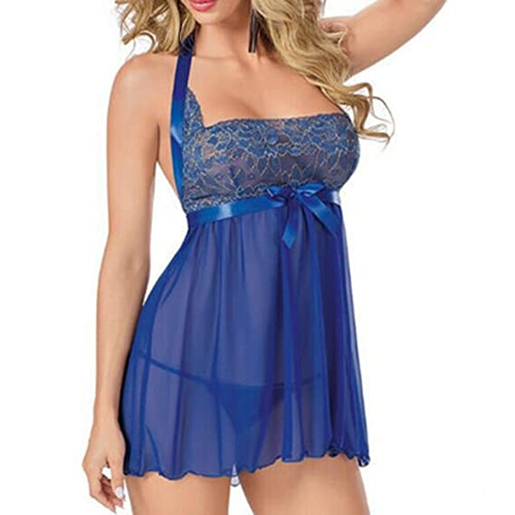 Conjunto lenceria sexy mujer, Morwind picardias sexy mujer talla grande ropa interior mujer sexy conjuntos vestido halter pijama bodysuit backless picardias ...