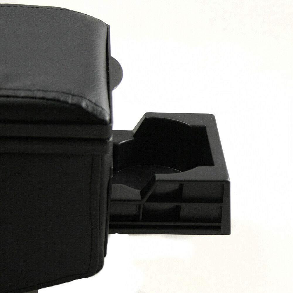 42007 Accoudoir central universel avec rangement en simili cuir CarJoy noir