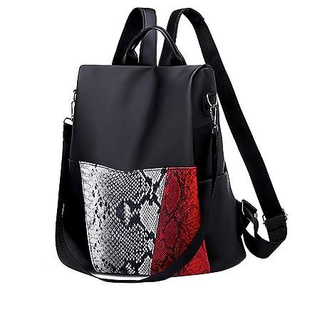 4ca7a0541d28 Cinhent Backpacks Women Lightweight Sleek Minimalist Large Capacity Travel  Bag (Black)