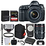 Canon EOS 5D Mark IV DSLR Camera + EF 24-105mm f/4L is II USM Lens + SanDisk Extreme Pro 64GB Memory Card + Canon RC-6 Remote + Vivitar Series 1 Trolley Backpack + TTL Flash + Monopod – Valued Bundle For Sale