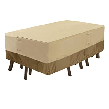 veranda rectangular oval patio table cover kepooman durable and rh amazon co uk Home Depot Patio Table Patio Furniture Covers