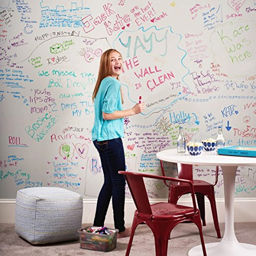 [BLACK FRIDAY SPECIAL] Dry Erase Wall Decal With Dry Erase Marker [ Life of the Party ] Over 6 Ft of Adhesive Whiteboard Turns Any Surface Into Monthly Calendar or Weekly List Photo #9